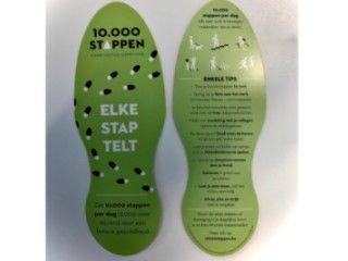 Voetzoolflyer 10.000 stappen