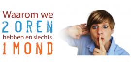 Waarom we 2 oren hebben en slechts 1 mond