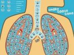 ganzebord afgebeeld in de vorm van longen