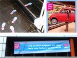 voetzooltje, affiche en banner die 10.000 stappen promoten